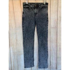 American Apparel Black Acid Wash Jeans 29